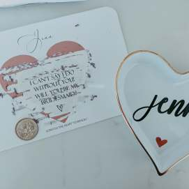 Amy's cute invitation for me to be in her wedding!